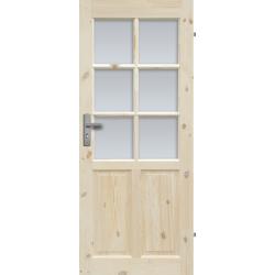 """Drzwi sosnowe, seczne - """"Londyn Lux"""" wersja 6S - Seria Classic - Drzwi wewnetrzne drewniane """"RADEX"""""""