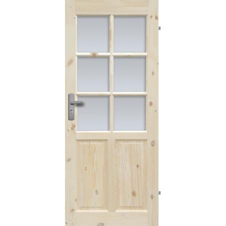 """Drzwi sosnowe, sęczne - Londyn Lux wersja 6S - Seria Classic - Drzwi wewnętrzne drewniane """"RADEX"""""""