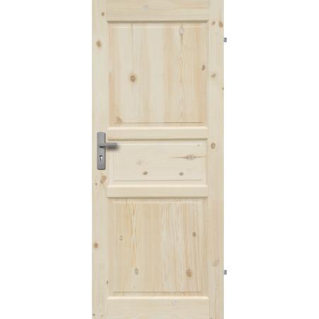 """Drzwi sosnowe, sęczne - Normandia pełne - Seria Classic - Drzwi wewnętrzne drewniane """"RADEX"""""""