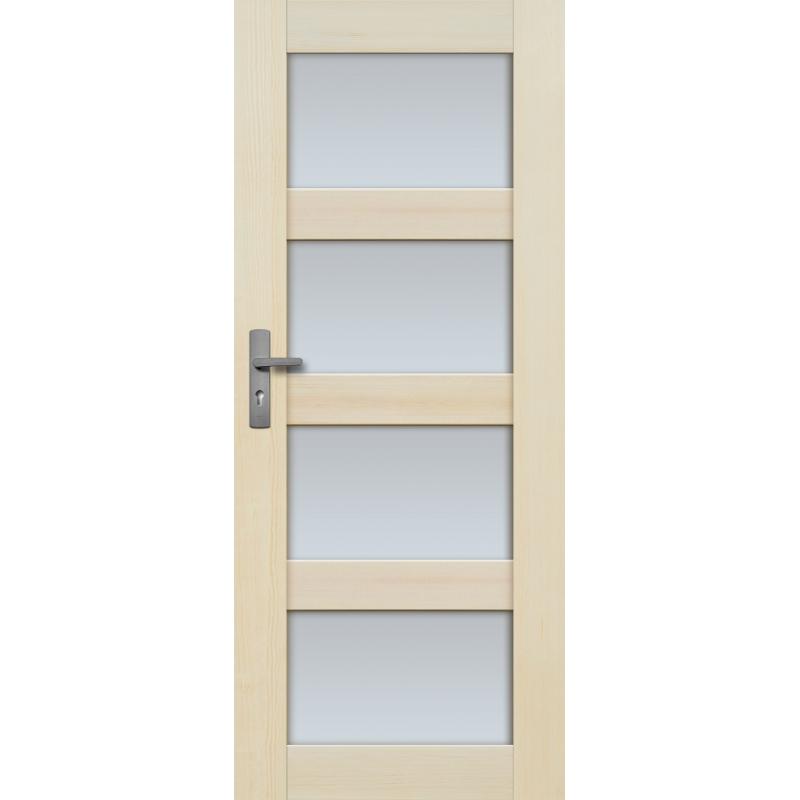 """Drzwi sosnowe, bezsęczne - Nefryt 4S - Seria Premium - Drzwi wewnętrzne drewniane """"RADEX"""""""