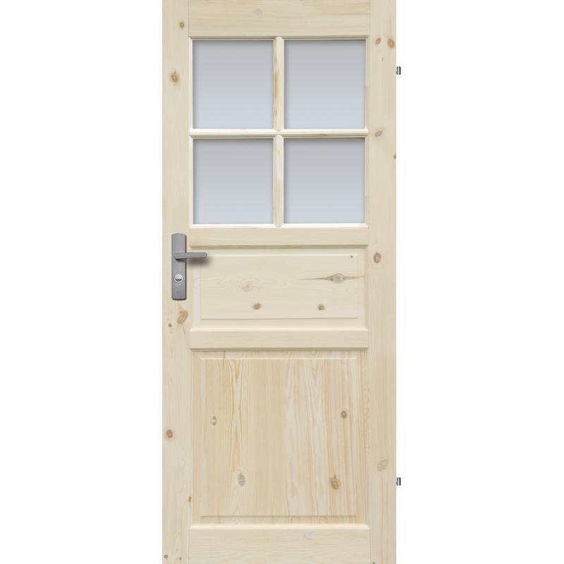 """Drzwi sosnowe, seczne - """"Normandia"""" wersja 4S- Seria Classic - Drzwi wewnetrzne drewniane """"RADEX"""