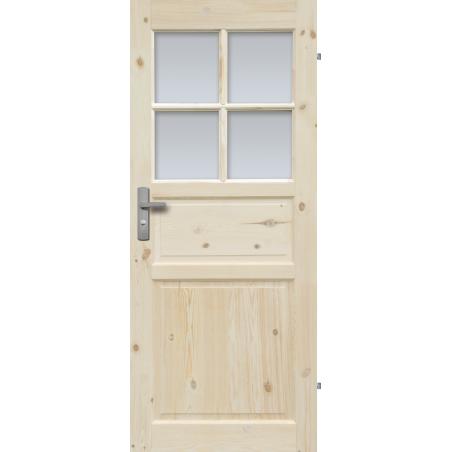 """Drzwi sosnowe, sęczne - Normandia wersja 4S- Seria Classic- Drzwi wewnętrzne drewniane """"RADEX"""""""