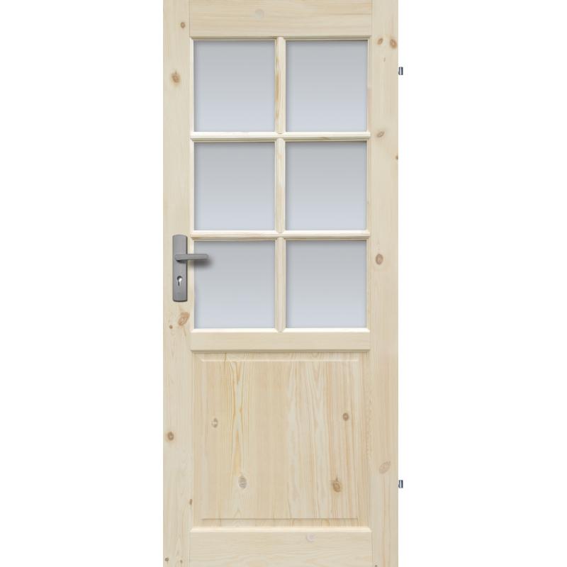 """Drzwi sosnowe, seczne - """"Normandia"""" wersja 6S - Seria Classic - Drzwi wewnetrzne drewniane"""