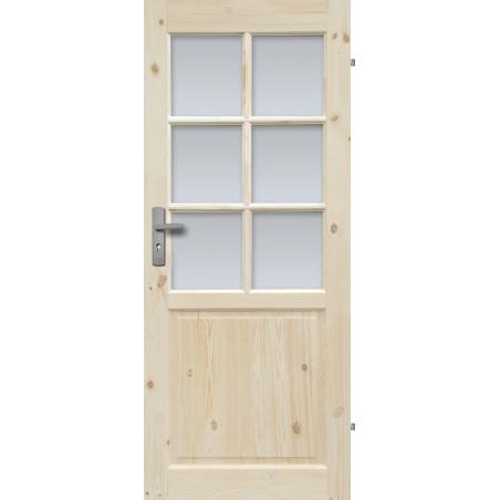 """Drzwi sosnowe, sęczne - Normandia wersja 6S - Seria Classic - Drzwi wewnętrzne drewniane """"RADEX"""""""