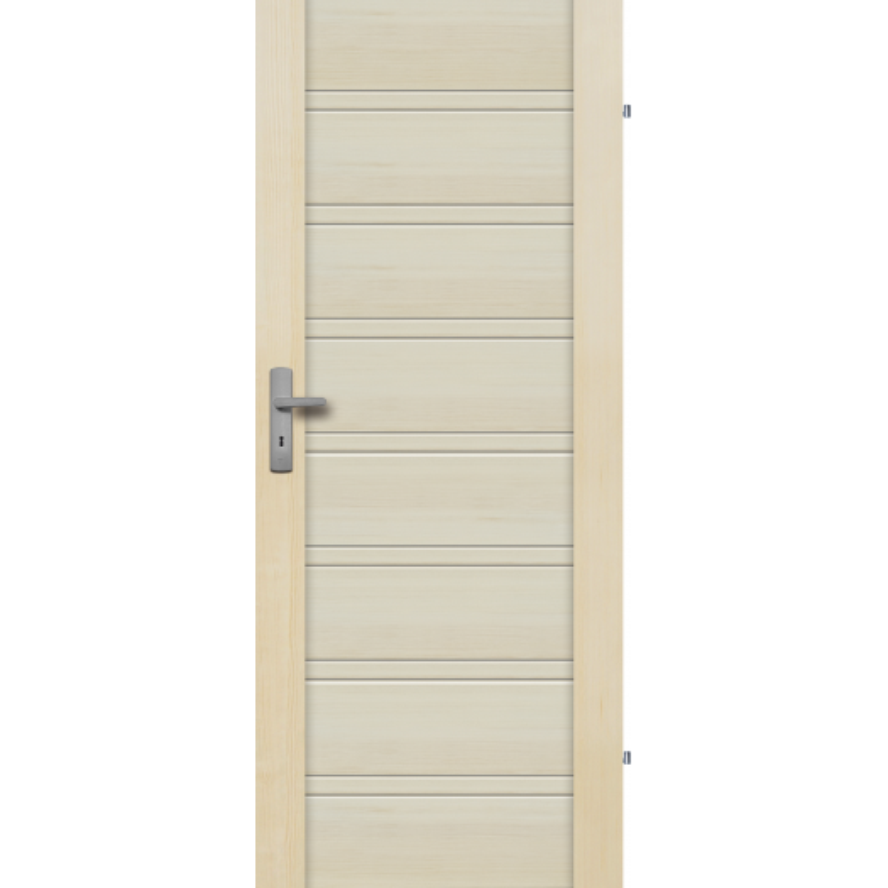 """Drzwi sosnowe, bezseczne - Malaga pelne - Seria Premium - Drzwi wewnetrzne drewniane """"RADEX"""""""