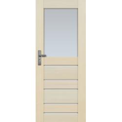 """Drzwi sosnowe, bezseczne - Marbella z 6 szybami - Seria Premium - Drzwi wewnetrzne drewniane """"RADEX"""""""