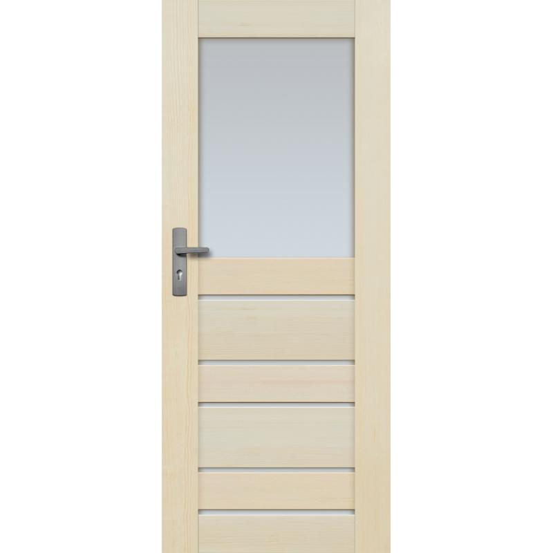 """Drzwi sosnowe, bezsęczne - Marbella z 6 szybami - Seria Premium - Drzwi wewnętrzne drewniane """"RADEX"""""""