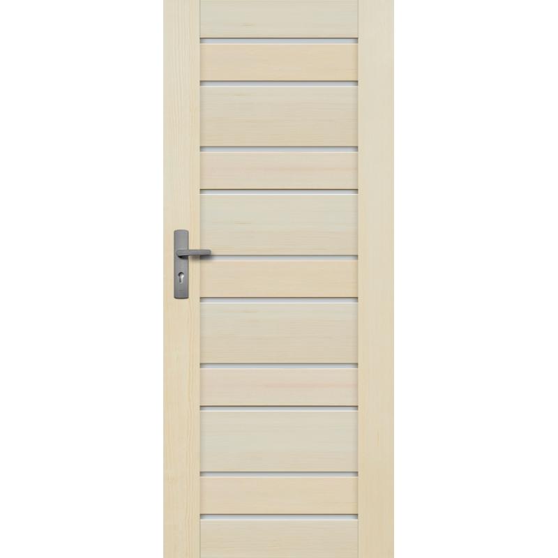 """Drzwi sosnowe, bezseczne - Marbella z 10 szybkami - Seria Premium - Drzwi wewnetrzne drewniane """"RADEX"""""""