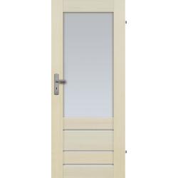 """Drzwi sosnowe, bezseczne - Marbella z 4 szybami - Seria Premium - Drzwi wewnetrzne drewniane """"RADEX"""""""