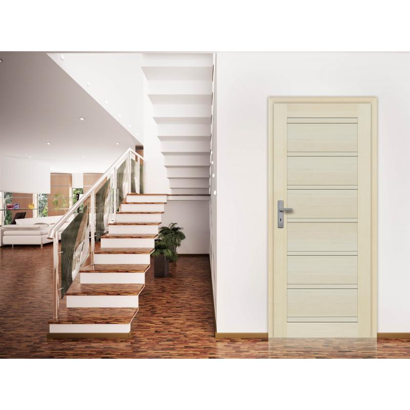 Drzwi sosnowe, bezsęczne - Roma pełne - Seria Premium - Drzwi wewnętrzne drewniane