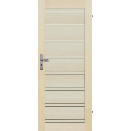 """Drzwi sosnowe, bezsęczne -Milano pełne - Seria Premium - Drzwi wewnętrzne drewniane """"RADEX"""""""