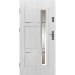Drzwi zewnętrzne przeszklone APOLLO - Białe. Produkt POLSKI.