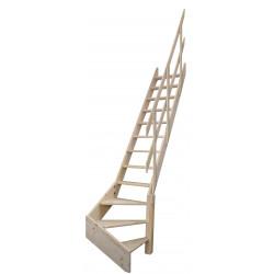 """Drewniane schody młynarskie zabiegowe prawe - """"Kopenhaga 545"""""""