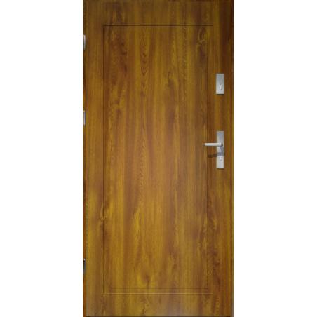 Drzwi zewnętrzne pełne APOLLO V1 - Złoty Dąb. Produkt POLSKI.