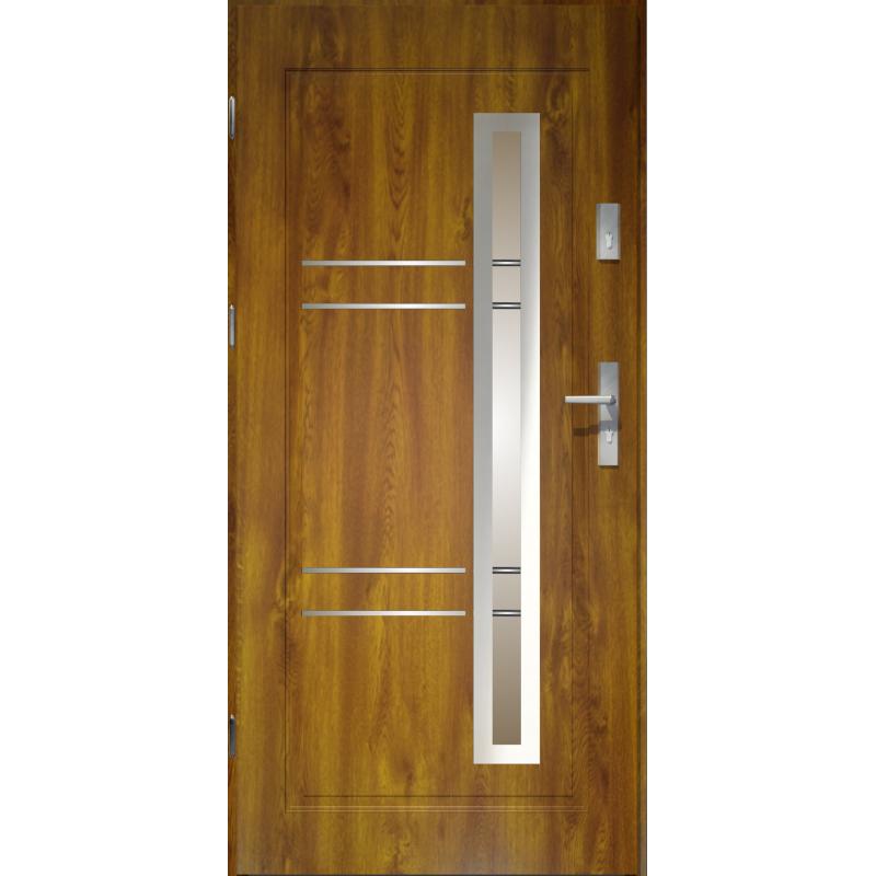 Bardzo dobra Drzwi zewnętrzne przeszklone APOLLO - Złoty Dąb. Produkt POLSKI OJ34