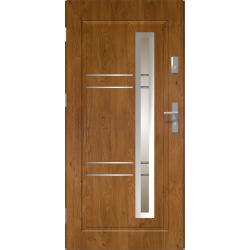 Drzwi zewnętrzne przeszklone APOLLO - Winchester. Szklenie Stopsol. Produkt polski.