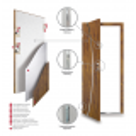 Drzwi zewnętrzne APOLLO  - Winchester. Produkt polski. Wymiarowanie szerokości, przekrój.