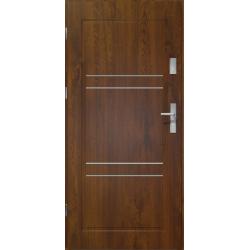 Drzwi zewnętrzne APOLLO V2 - Ciemny Orzech. Produkt POLSKI.