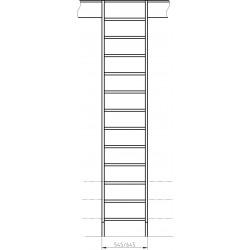 """Drewniane schody młynarskie proste - """"Kopenhaga 645"""""""
