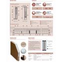 Drewniane drzwi zewnętrzne Komodus z antabą 800mm - sosnowe - budowa drzwi