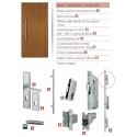 Drewniane drzwi zewnętrzne Komodus z antabą 800mm - sosnowe - zawartość zestawu okuć.