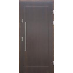 Drewniane drzwi zewnętrzne Andabatus - sosnowe z antabą 800 - CIEMNY ORZECH