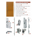 Drewniane drzwi zewnętrzne Andabatus z antabą 1200 - zawartość zestawu okuć.