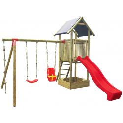 Zestaw Antek - dwie huśtawki, wieża ze zjeżdzalnią