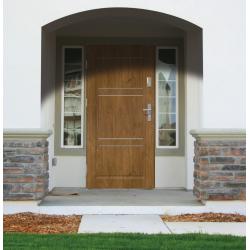 Drzwi zewnętrzne pełne z pasami ozdobnymi APOLLO V2 - Winchester. Produkt POLSKI.