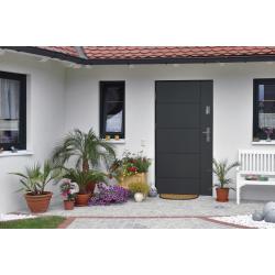 Drzwi zewnętrzne pełne LINEA - Białe. Produkt POLSKI.