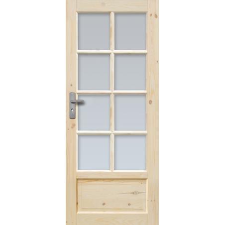 """Drzwi sosnowe, sęczne - """"Verona"""" wersja 8S - Seria Classic Bezprzylgowe - Drzwi wewnętrzne drewniane """"RADEX"""""""