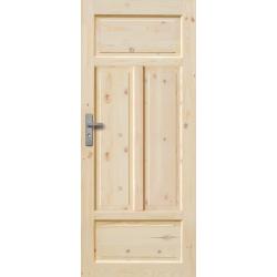 """Drzwi sosnowe, sęczne - """"Verona"""" pełne - Seria Classic Bezprzylgowe - Drzwi wewnętrzne drewniane """"RADEX"""""""