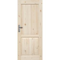 """Drzwi sosnowe, sęczne - """"Lugano"""" pełne - Seria Classic Bezprzylgowe - Drzwi wewnętrzne drewniane """"RADEX"""""""