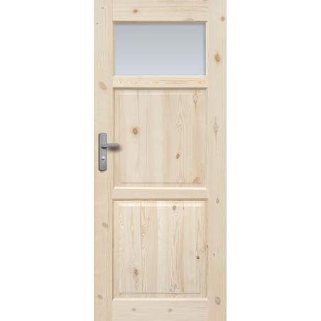"""Drzwi sosnowe, sęczne - """"Lugano"""" wersja 1S - Seria Classic Bezprzylgowe - Drzwi wewnętrzne drewniane """"RADEX"""""""