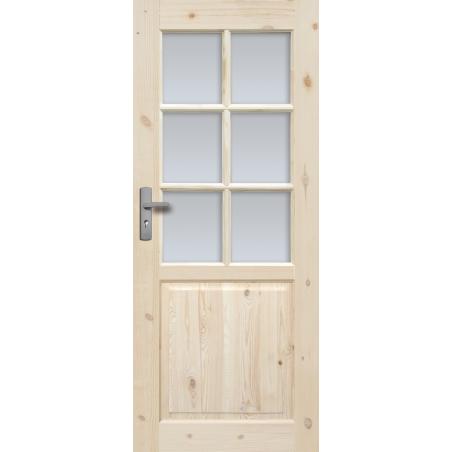 """Drzwi sosnowe, sęczne - """"Lugano"""" wersja 6S - Seria Classic Bezprzylgowe - Drzwi wewnętrzne drewniane """"RADEX"""""""