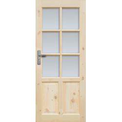 """Drzwi sosnowe, sęczne - """"Czapla"""" wersja 6S - Seria Classic Bezprzylgowe - Drzwi wewnętrzne drewniane """"RADEX"""""""