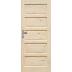 """Drzwi sosnowe, sęczne - """"Iława"""" pełne - Seria Classic Bezprzylgowe - Drzwi wewnętrzne drewniane """"RADEX"""""""