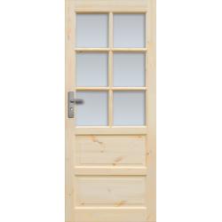 """Drzwi sosnowe, sęczne - """"Iława"""" wersja 6S - Seria Classic Bezprzylgowe - Drzwi wewnętrzne drewniane """"RADEX"""""""