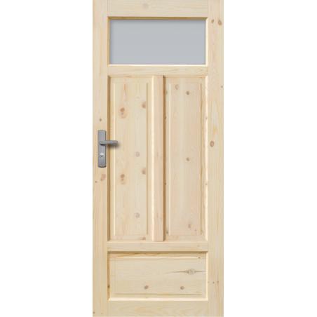 """Drzwi sosnowe, sęczne - """"Verona"""" wersja 1S - Seria Classic Bezprzylgowe - Drzwi wewnętrzne drewniane """"RADEX"""""""