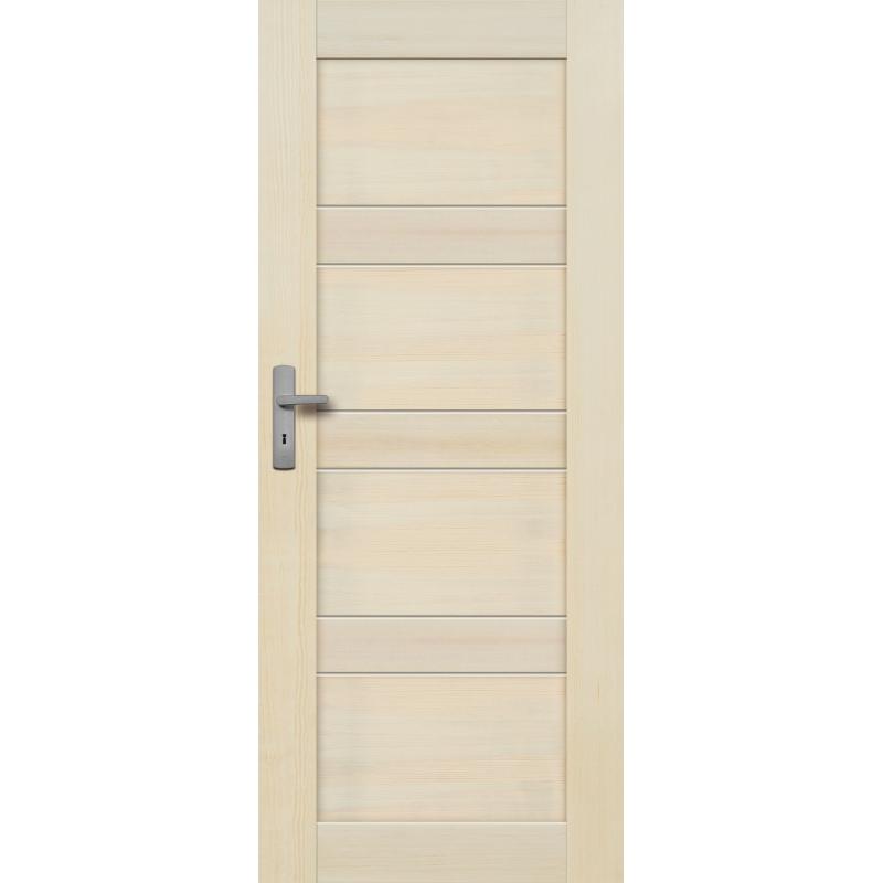 """Drzwi sosnowe, bezsęczne - """"Nefryt"""" pełne bezprzylgowe - Seria Fog - Drzwi wewnętrzne drewniane """"RADEX"""""""