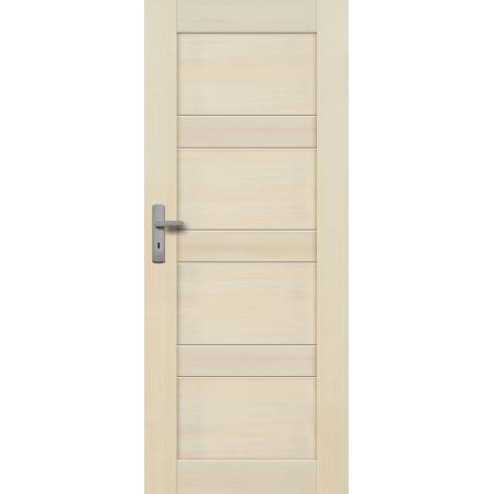 """Drzwi sosnowe, bezsęczne - """"Nefryt"""" pełne bezprzylgowe - Seria Premium - Drzwi wewnętrzne drewniane """"RADEX"""""""