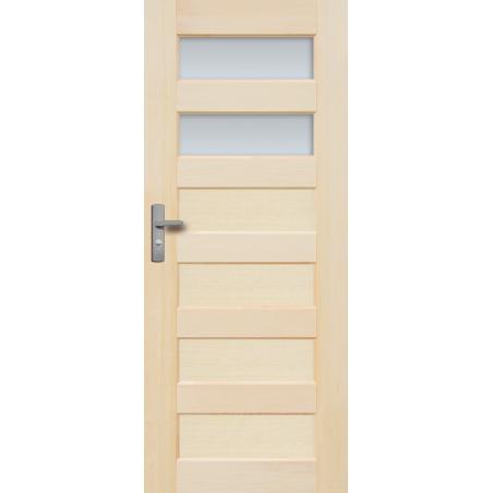 """Drzwi sosnowe, bezsęczne - """"Manhattan"""" wersja 2S bezprzylgowe - Seria Fog - Drzwi wewnętrzne drewniane """"RADEX"""""""