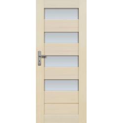 """Drzwi sosnowe, bezsęczne - """"Tossa"""" 4S  bezprzylgowe - Seria Premium - Drzwi wewnętrzne drewniane """"RADEX"""""""