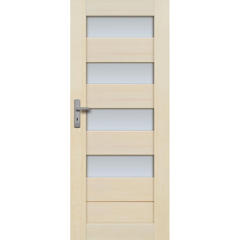 """Drzwi sosnowe, bezsęczne - """"Tossa"""" 4S bezprzylgowe - Seria Fog - Drzwi wewnętrzne drewniane """"RADEX"""""""