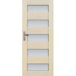 """Drzwi sosnowe, bezsęczne - """"Tossa"""" 5S  bezprzylgowe - Seria Premium - Drzwi wewnętrzne drewniane """"RADEX"""""""