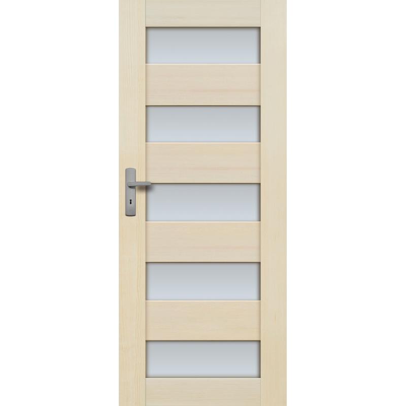 """Drzwi sosnowe, bezsęczne - """"Tossa"""" 5S bezprzylgowe - Seria Fog - Drzwi wewnętrzne drewniane """"RADEX"""""""