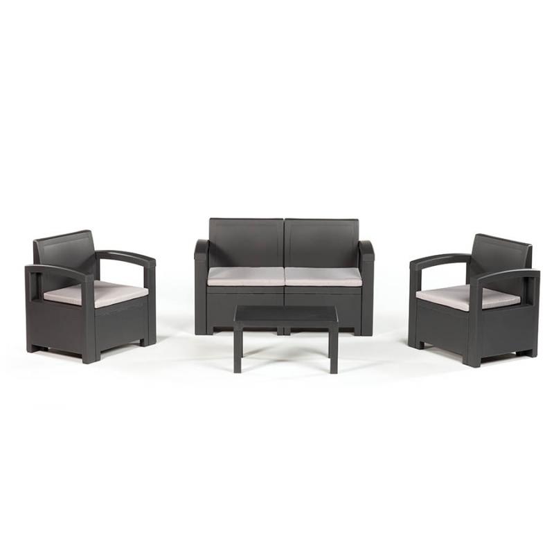 Włoski zestaw wypoczynkowy DACOTA biały (2x fotel + 1x sofa + stolik kawowy).
