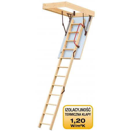"""Drewniane schody strychowe """"ENERGY"""" 120x60 cm"""