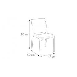 Nowoczesne krzesło CROSS ANTRACITE - Włoski DESIGN - Technorattan