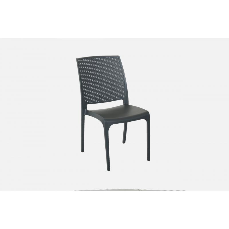 Nowoczesne krzesło CROSS ANTACITE - Włoski DESIGN - Technorattan